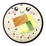 Cute Kawaii Sushi Roll Round Car Magnet