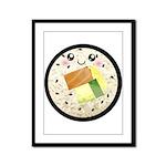 Cute Kawaii Sushi Roll Framed Panel Print