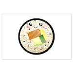 Cute Kawaii Sushi Roll Large Poster