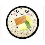 Cute Kawaii Sushi Roll Small Poster