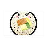 Cute Kawaii Sushi Roll 35x21 Wall Decal