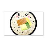 Cute Kawaii Sushi Roll 20x12 Wall Decal