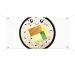 Cute Kawaii Sushi Roll Banner