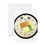 Cute Kawaii Sushi Roll Greeting Card