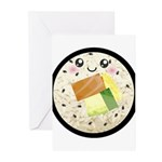 Cute Kawaii Sushi Roll Greeting Cards (Pk of 10)