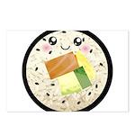 Cute Kawaii Sushi Roll Postcards (Package of 8)