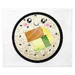 Cute Kawaii Sushi Roll King Duvet