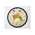 Cute Kawaii Sushi Roll Throw Blanket