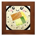 Cute Kawaii Sushi Roll Framed Tile