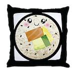 Cute Kawaii Sushi Roll Throw Pillow