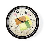 Cute Kawaii Sushi Roll Wall Clock