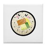 Cute Kawaii Sushi Roll Tile Coaster