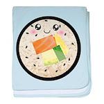 Cute Kawaii Sushi Roll baby blanket