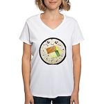 Cute Kawaii Sushi Roll Women's V-Neck T-Shirt