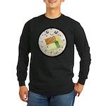 Cute Kawaii Sushi Roll Long Sleeve Dark T-Shirt