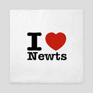 I Love Newts Queen Duvet