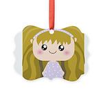 Kawaii cartoon Girl Picture Ornament