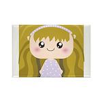 Kawaii cartoon Girl Rectangle Magnet (100 pack)