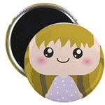 Kawaii cartoon Girl Magnet