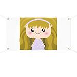 Kawaii cartoon Girl Banner