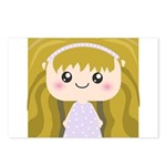Kawaii cartoon Girl Postcards (Package of 8)