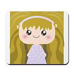 Kawaii cartoon Girl Mousepad