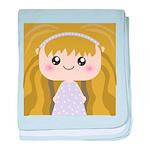 Kawaii cartoon Girl baby blanket