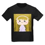 Kawaii cartoon Girl Kids Dark T-Shirt