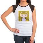 Kawaii cartoon Girl Women's Cap Sleeve T-Shirt