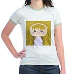 Kawaii cartoon Girl Jr. Ringer T-Shirt