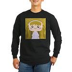 Kawaii cartoon Girl Long Sleeve Dark T-Shirt