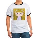 Kawaii cartoon Girl Ringer T