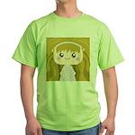 Kawaii cartoon Girl Green T-Shirt