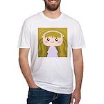 Kawaii cartoon Girl Fitted T-Shirt