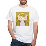 Kawaii cartoon Girl White T-Shirt