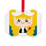 Cute Cartoon Girl from Holland Picture Ornament