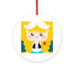 Cute Cartoon Girl from Holland Ornament (Round)