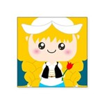 Cute Cartoon Girl from Holland Square Sticker 3