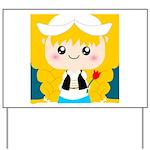 Cute Cartoon Girl from Holland Yard Sign