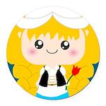 Cute Cartoon Girl from Holland Round Car Magnet