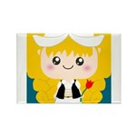 Cute Cartoon Girl from Holland Rectangle Magnet (1