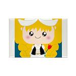 Cute Cartoon Girl from Holland Rectangle Magnet