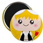 Cute Cartoon Girl from Holland Magnet