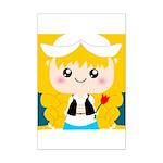 Cute Cartoon Girl from Holland Mini Poster Print