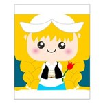 Cute Cartoon Girl from Holland Small Poster