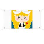 Cute Cartoon Girl from Holland Banner
