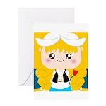 Cute Cartoon Girl from Holland Greeting Card