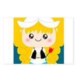 Cute Cartoon Girl from Holland Postcards (Package