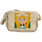 Cute Cartoon Girl from Holland Messenger Bag