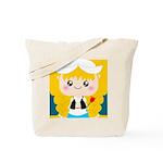 Cute Cartoon Girl from Holland Tote Bag